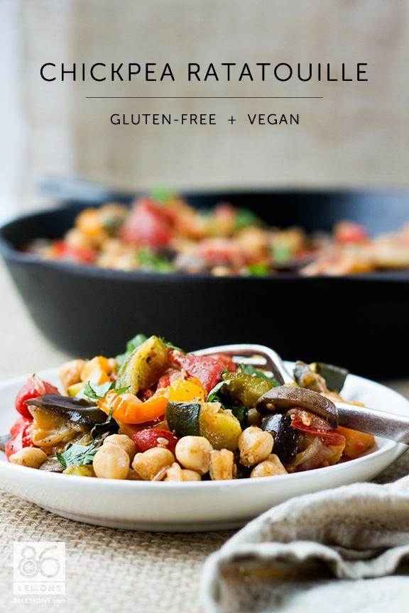 Chickpea Ratatouille #recipe #vegan