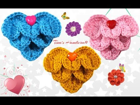 heart - crocodile crochet stitch No33