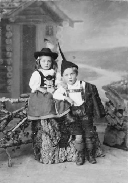 """Numerous native dress societies and clubs called """"Volkstrachtenvereine"""" promote the preservation and revival of traditional German dress. Referred to as """"tracht"""" (or plural """"trachten""""), today it denotes any form of rustic or traditional clothing of supposed Germanic origin, although most typically it refers to lederhosen and dirndls."""