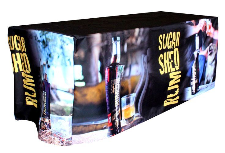 This vibrantly printed table cover for Sarina Sugar Shed Rum is a dazzling work-of-art created by Star Outdoor, your outdoor branding specialists. To get your own amazing, custom-printed table cover or other outdoor promotional products for your business, call Star Outdoor today on 1800 721 877 or visit their website at www.staroutdoor.com.au