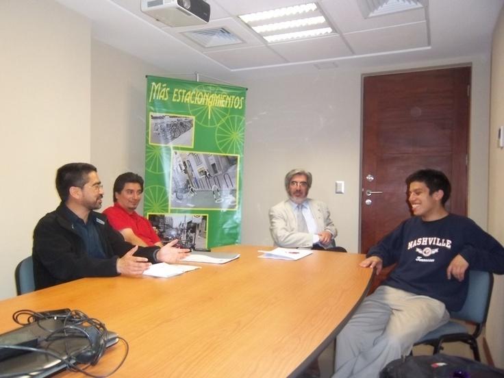 Con parte del equipo de Temuco, ciudad sustentable