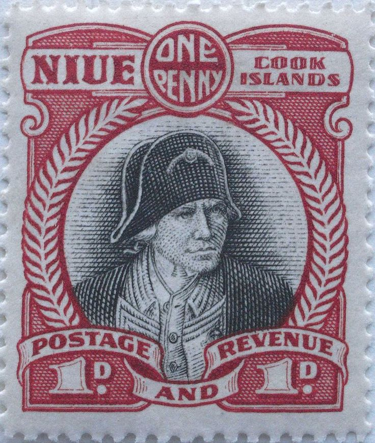 Briefmarke aus 1932: James Cook (Niue)