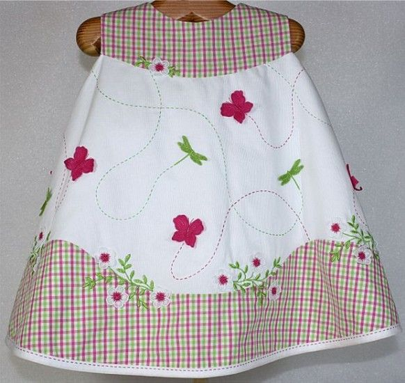 Baby Lock Sewing, Embroidery, Serging & Quilting Machines - Info how cute is this dress!