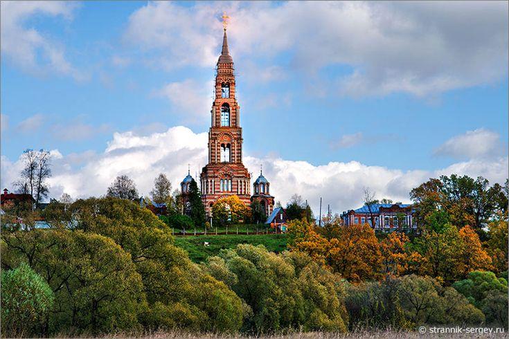 Диво дивное. Колокольня церкви Иоанна Предтечи на Ивановой горе всего на 2 аршина (1,5 метра) ниже колокольни Ивана Великого в Москве!