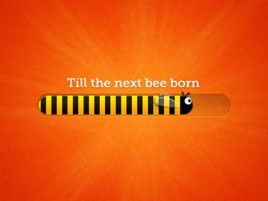 The 75 Inspiring Examples of Beautiful Loading Bar Designs - Bee progress bar by Andrew Ckor.
