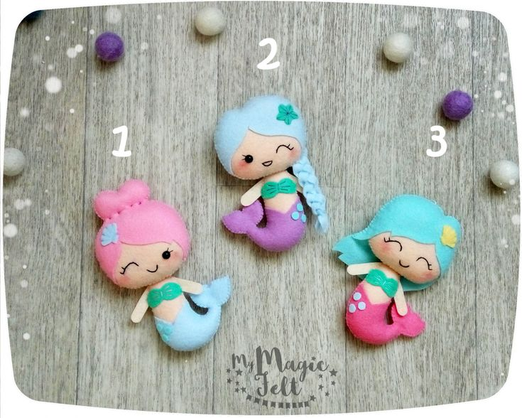 Cute mermaid ornaments Mermaid nursery decorations by MyMagicFelt