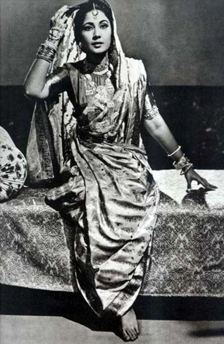 Old Bollywood the beautiful Meena Kumari #vintage indian inspiration
