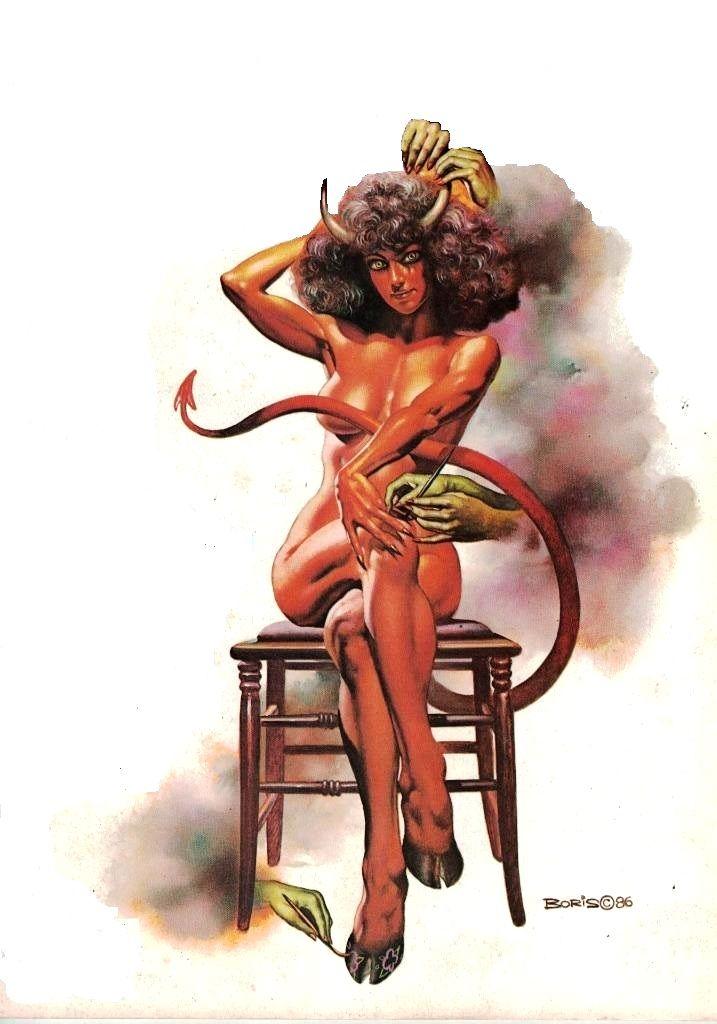 National Lampoon Magazine / Devil Lady / 1986 (Boris Vallejo)
