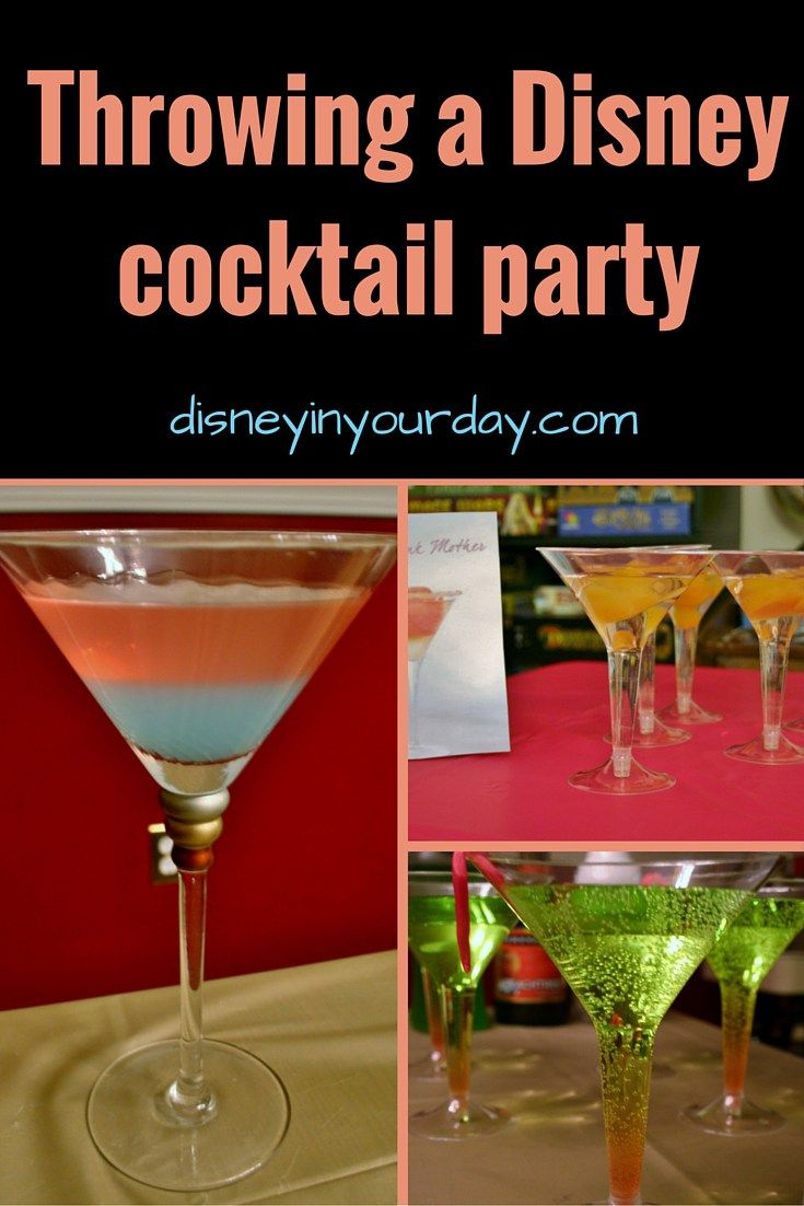 Waiting for your next trip? How about throwing a Disney themed cocktail party to pass the time?