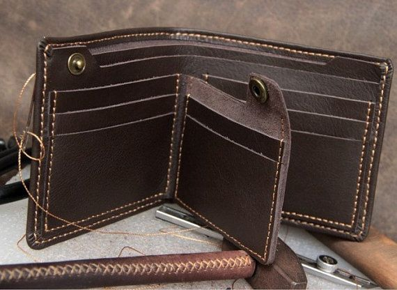 handmade leather wallet/ mens wallet/ por CreativeLeatherShop, $70.00