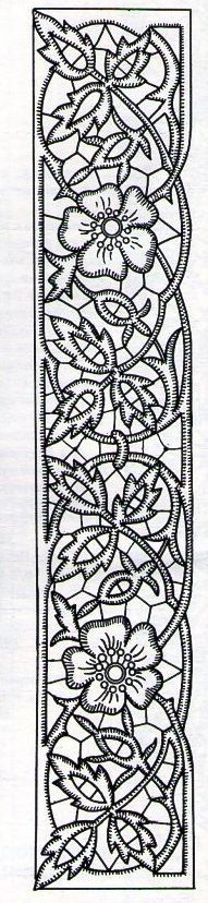 Banner Richelieu embroidery