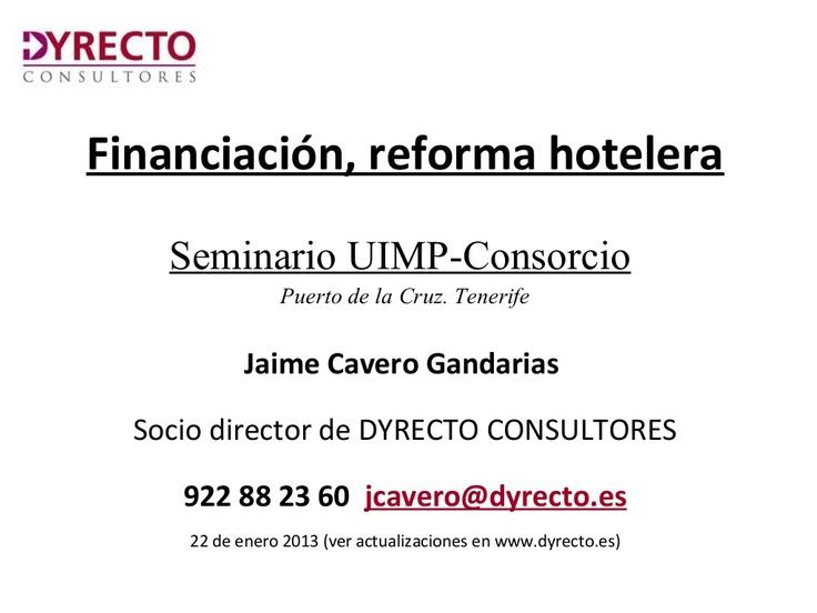 Todo para la financiación de reformas hoteleras