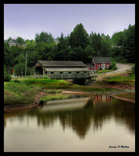 Covered Bridge St Martins New Brunswick Canada by threesalmon, via Flickr