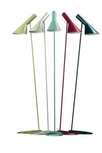 Floor lamp designed by Arne Jacobsen