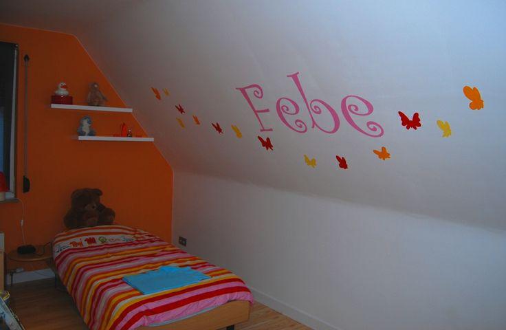 Decoratieve muurschildering vlinders