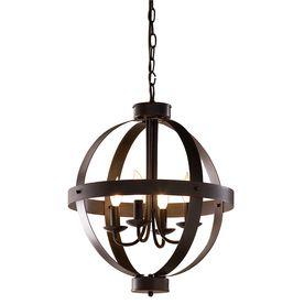 "Kitchen light option. allen + roth 18"" Antique Rust Bronze Pendant Light"