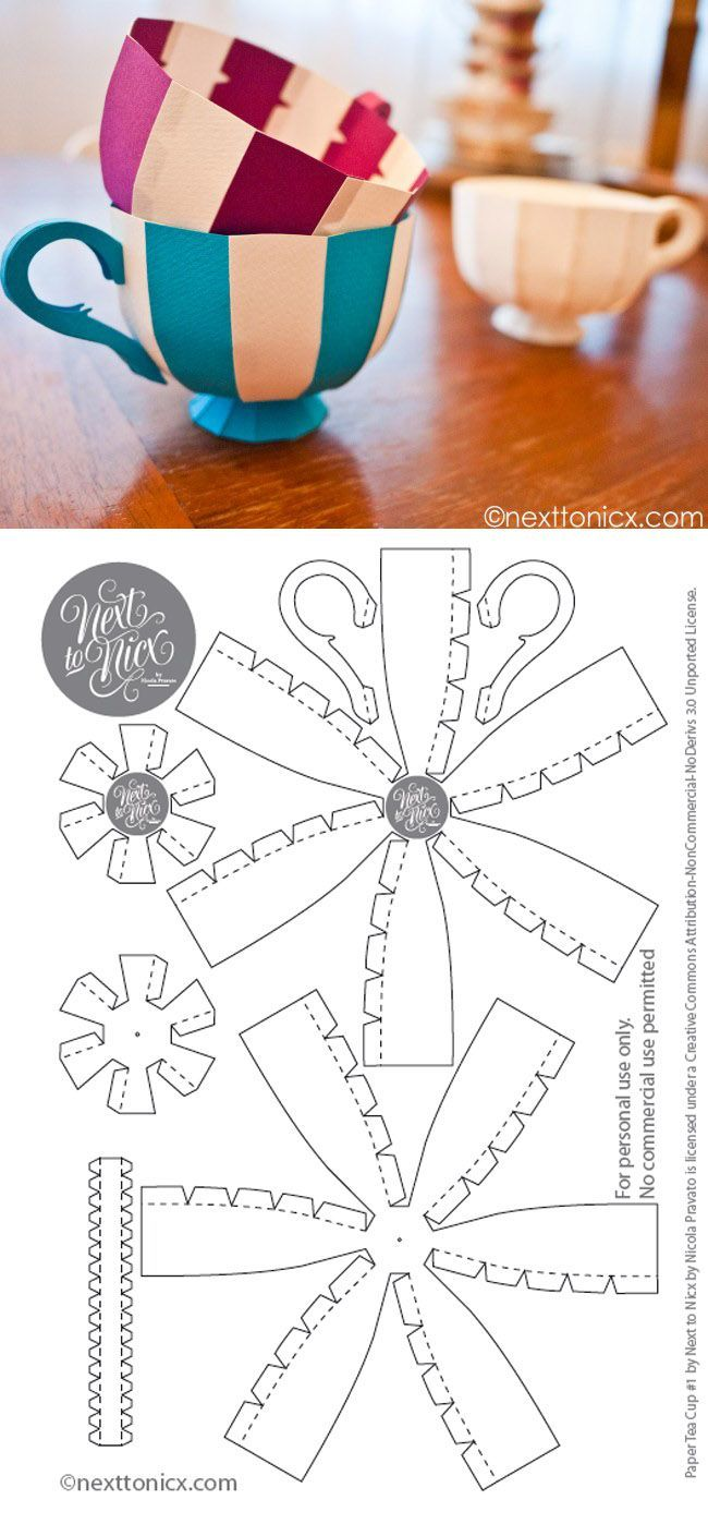 Free Printable Tea Cup These Would Be Cute To Hang At An Alice In Wonderland Party Diy Papercraft