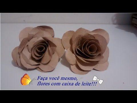FLORZINHA DE CAIXA DE LEITE Nane Mendes - Como fazer em detalhes Florzinha de caixa de leite - YouTube
