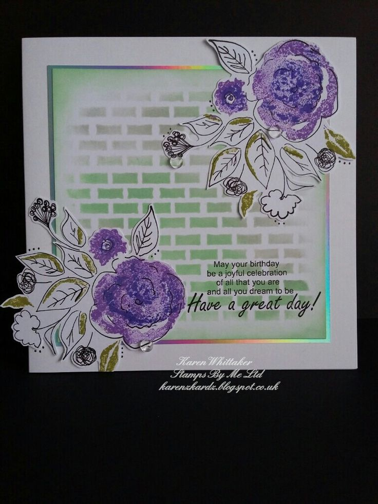 All you dream to be lamination stamp set by Stamps By Me  #stampsbyme #dtsample #lamination #flowers #distressoxides #stamps #stamping #card #creative #craft #ilovetocraft