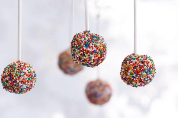 Disco party cake pops!
