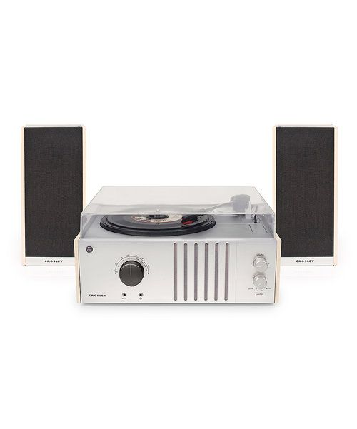 Look at this White Record Player