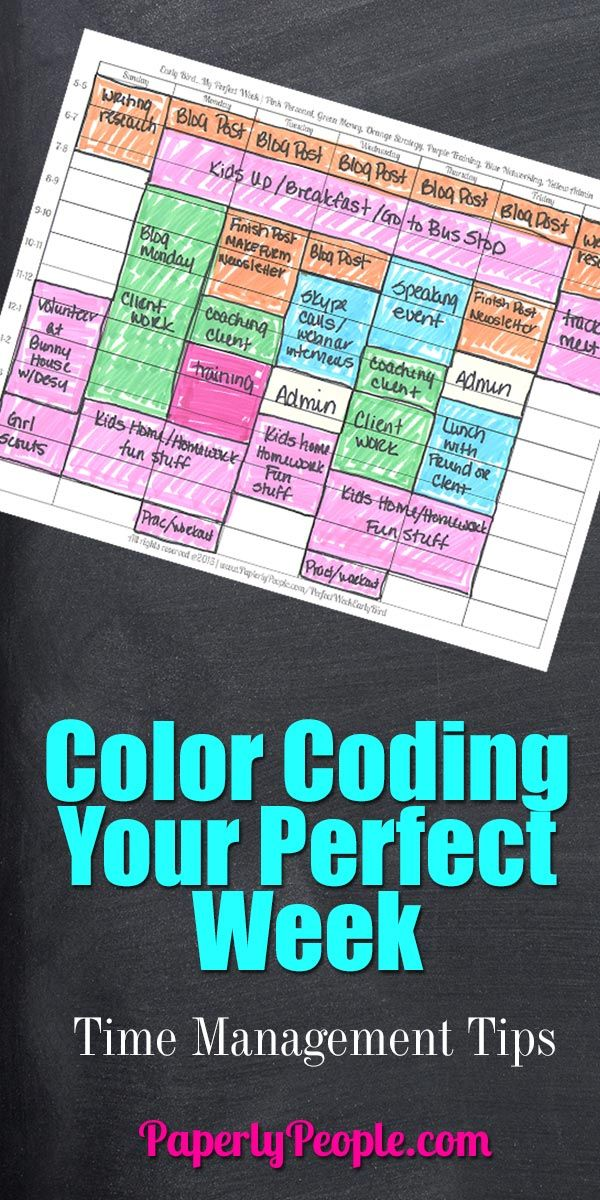 Color Coding Your Perfect Week | Time Management Tips