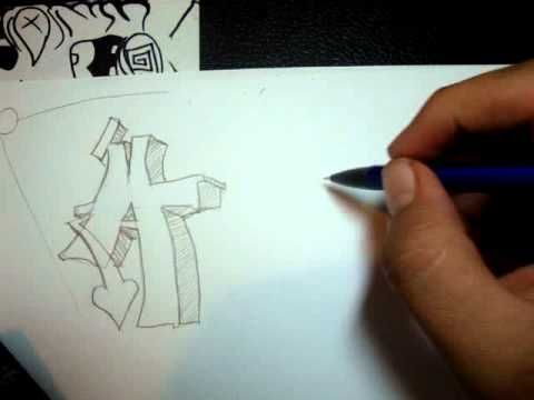 how to make your own graffiti letters This is the one to show to class- slow but good 6 minutes (show 3rd)