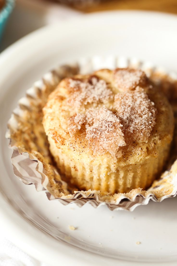 Snickerdoodle Muffins are soft and cakey with a crunchy cinnamon sugar topping!
