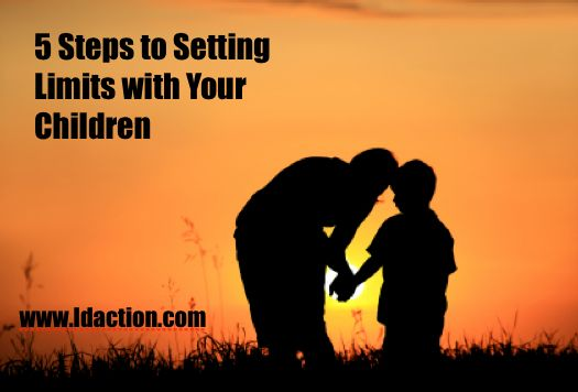 Come read this great blogpost about 5 steps to setting limits with your children.