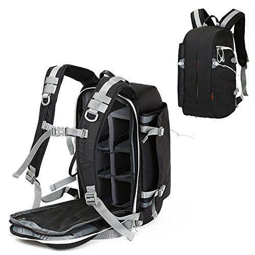 Camera Backpack Waterproof Travel Camera Bag for Canon Nikon Sony Olympus Samsung Panasonic SLR DSLR Camera >>> Visit the image link for more details. #DslrCameras