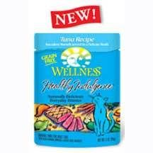 Extra: healthy wet food is a blessing! Wellness Healthy Indulgence Tuna Cat Food 3 oz. Pouch- Case | Cat | Pet Supermarket