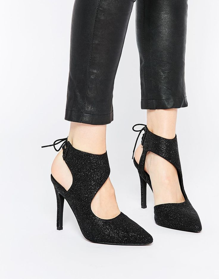 Image 1 - Senso - Chaussures à talons et pois - Étain noir corbeau