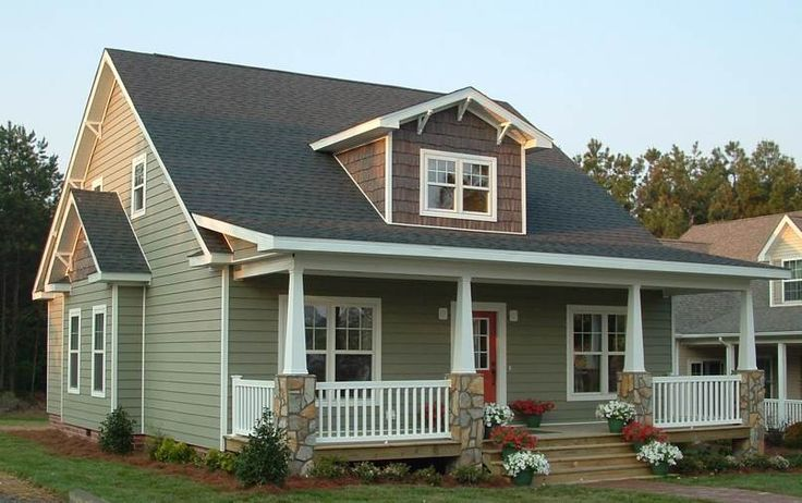 Cape code w porch modular homes pinterest cape code for Prefab craftsman homes