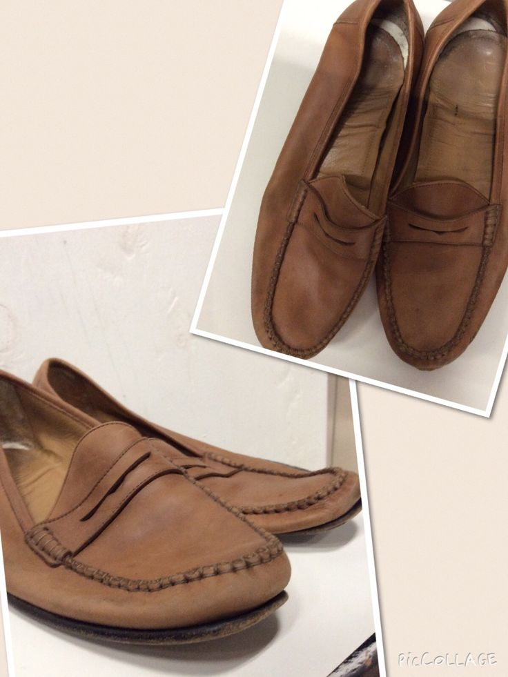 Men's size unknown.  Tan leather.  Loafers