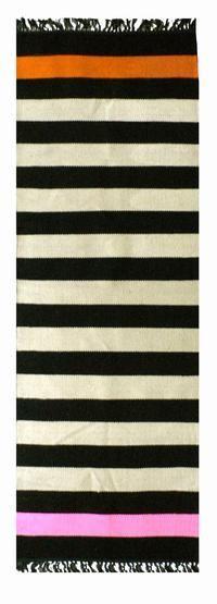 Runner Rug: Striped Runner, Decor, Interior Design, Color, Black And White, Black White, Runners