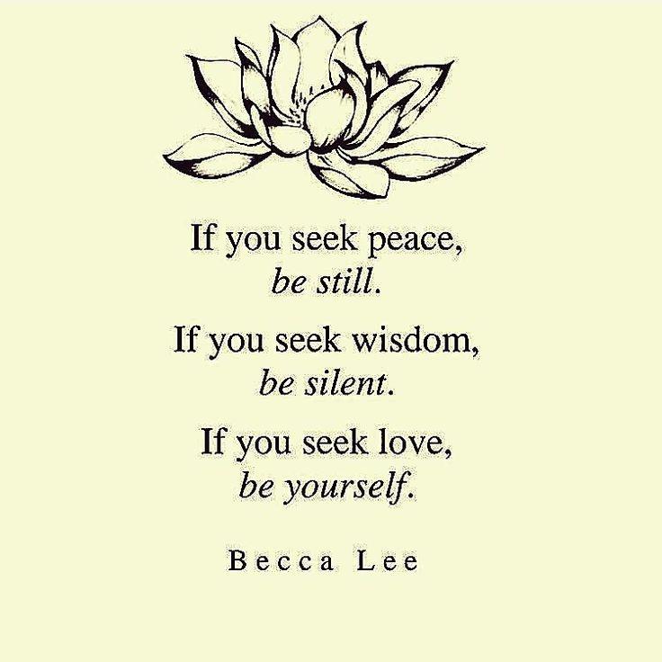Inner peace wisdom selfcare selflove organic loose