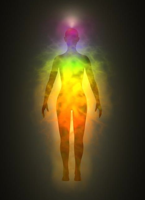 Everyone has an aura—the colors that portray the electromagnetic field that emanates out from the human body. Of course, every living thing and every object in the world also have auras, as we are all composed of particles of vibrating energy. In a person, the aura extends out about 2-4 feet from all sides of the body (as well as above the head and below the feet) in an egg-shaped field. (Article)