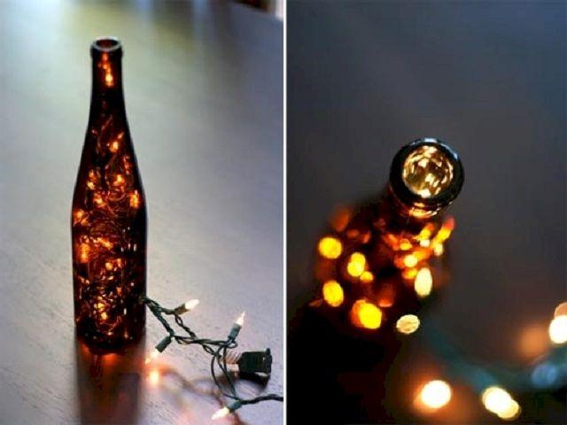 Chic Wine Bottle Light