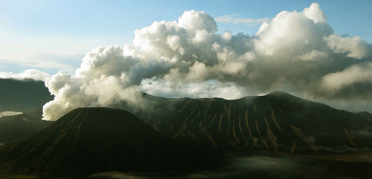 Mount Bromo is an active volcano and part of the Tengger backbone in East Java, Indonesia. It is not the highest peak, but it is the most well known for its beautiful view and caldera. Photo by Andika Saputra - www.indonesia.travel