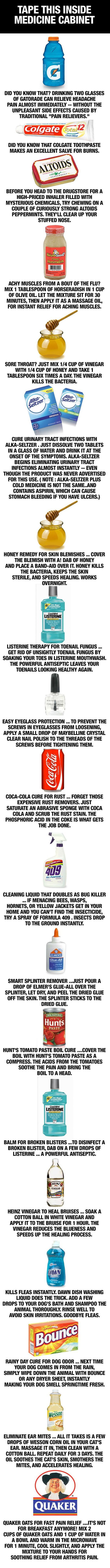 Some of these sound like they'd be worth trying, but Listerine to clean out a broken blister??!! I don't think so, Satan!! ;):
