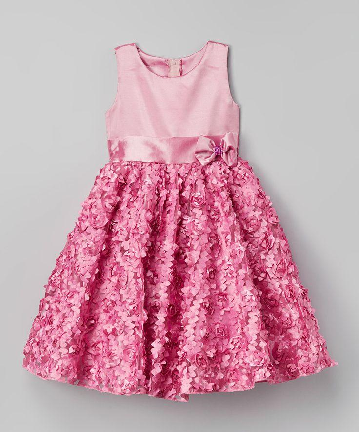 Kid Fashion Pink Rosette Dress - Infant, Toddler & Girls by Kid Fashion #zulily #zulilyfinds