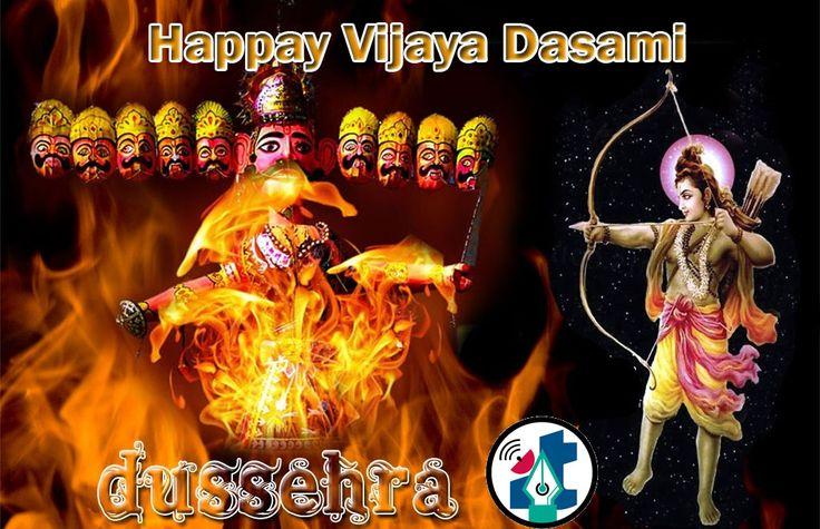 #Happy vijaya dashami The day also marks the victory of Goddess Durga over the demon Mahishasur. The name Dussehra is also derived from Sanskrit Dasha + Ahaha = Dasha Ahaha = Dasharatha. Ahaha means day. http://itclubindia.org/