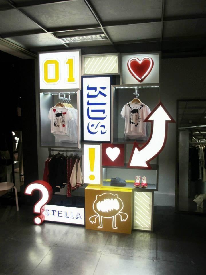 """Pop-up Store London, UK for Stella McCartney """"kids"""", pinned by Ton van der Veer"""