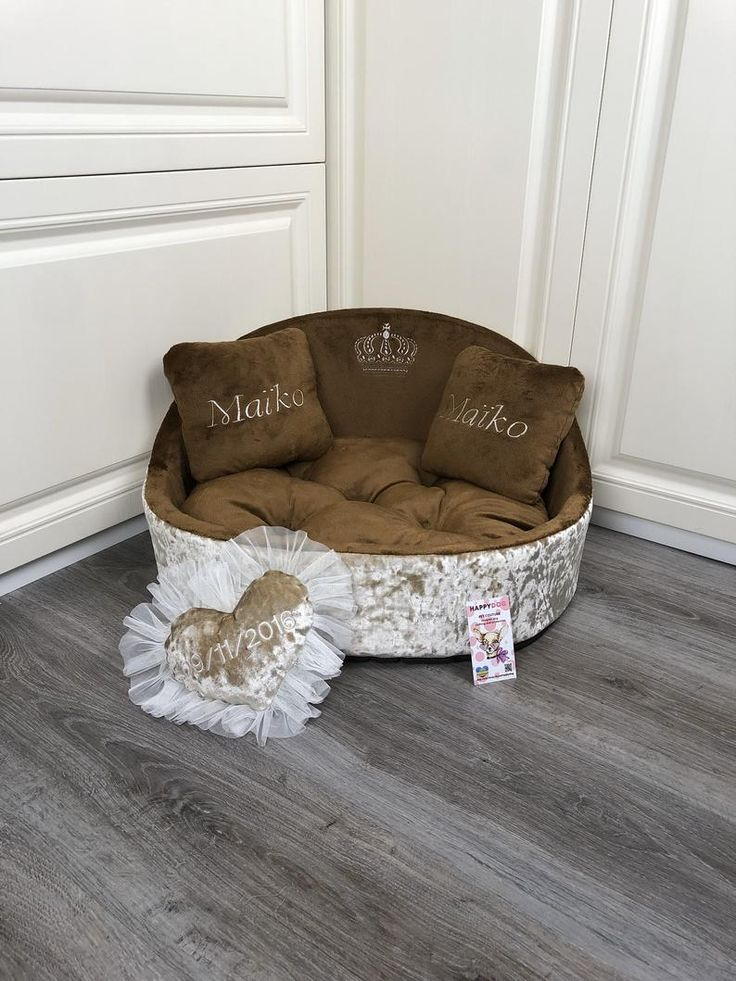 Best Brown Luxury Dog Bed Crushed Velvet Cusotmized Pet Bed 400 x 300