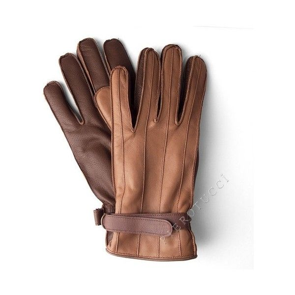 Warm Brown Leather Gloves for Men from Florence Italy (€85) via Polyvore