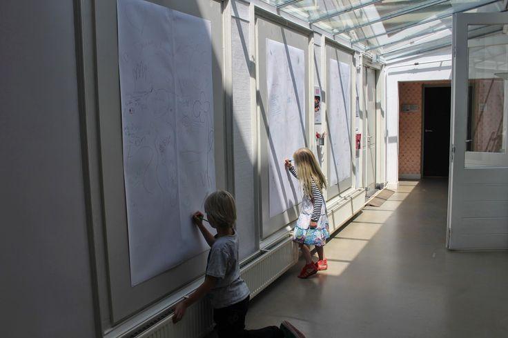 Shiuan-Wen Chu's Graphic Novels: Dolhuys Museum, little visitors leaving messages f...