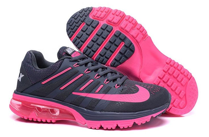 Nike AIR MAX EXCELLE RAPPE+4 806798-005 Womens shoes Running trainers Deep Grey/Pink