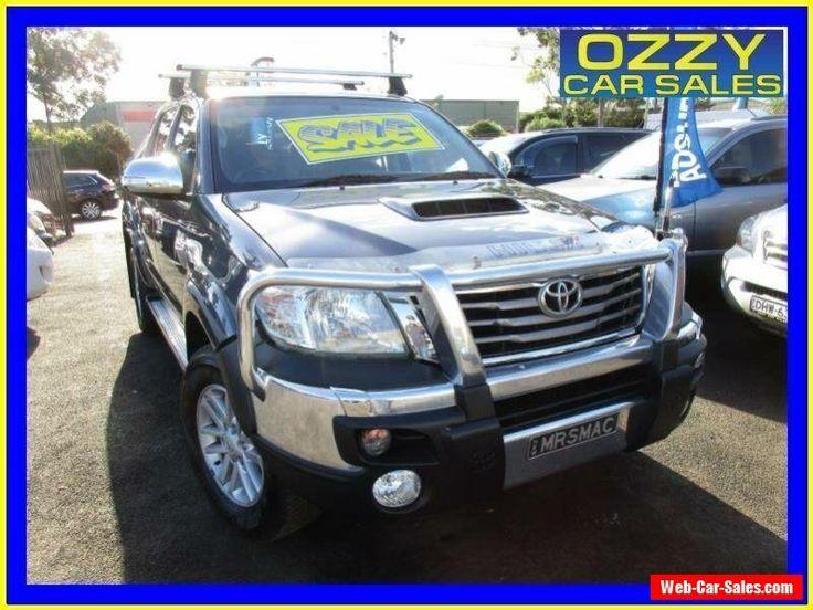 2012 Toyota Hilux KUN26R MY12 SR5 (4x4) Grey Manual 5sp M Dual Cab Pick-up #toyota #hilux #forsale #australia