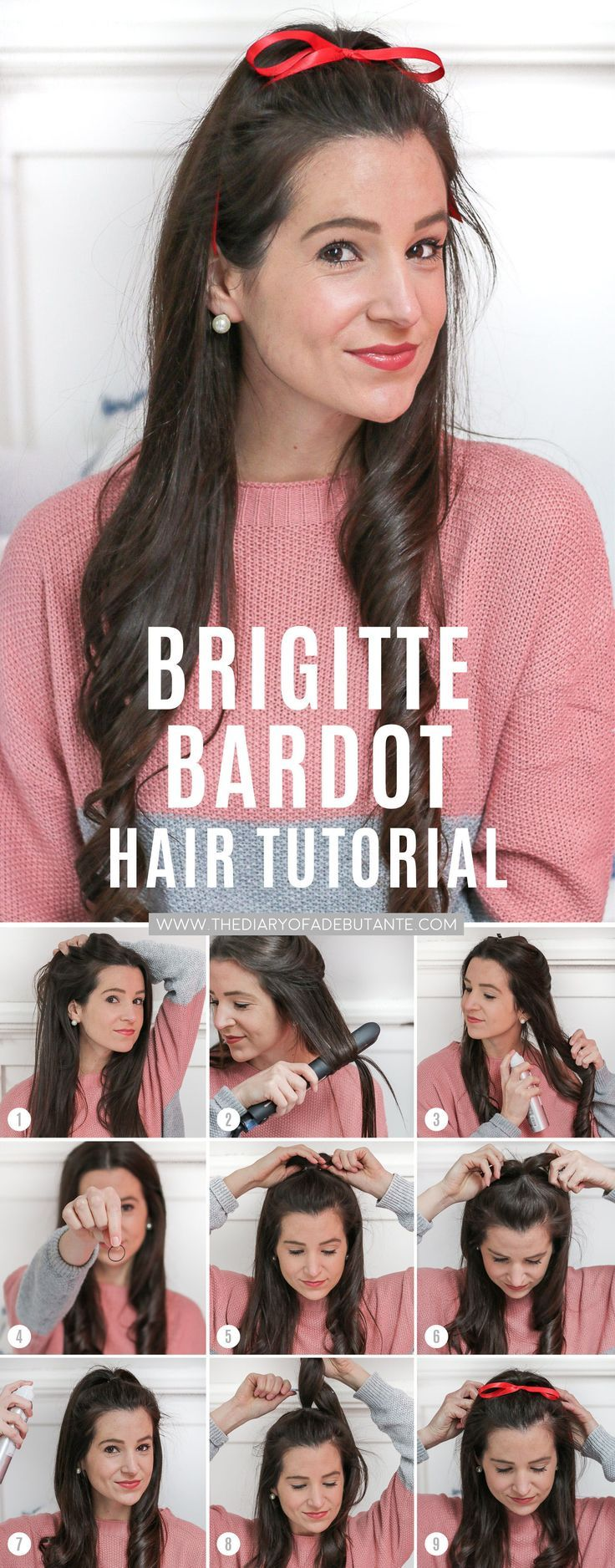 Hair Tutorials : If you're looking for holiday hairstyles for long hair, try this fun Brigitte Ba…