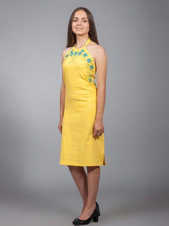 777421fdb78 NEW COLLECTION Vyshyvanka linen dress Ukrainian cross-stitch